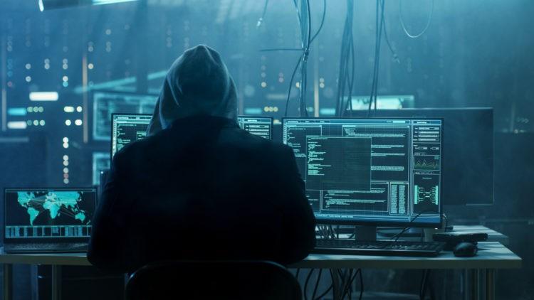 hacker in a room