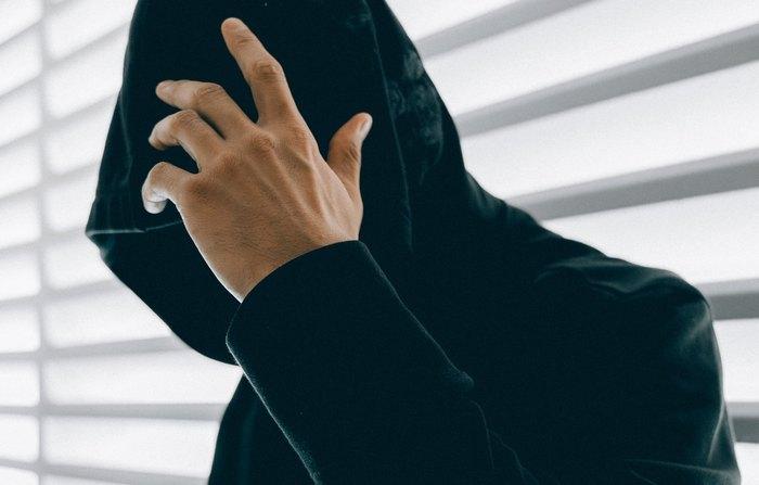 hacker with hoodie