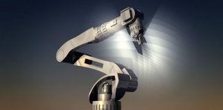 robot and light